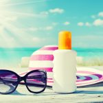 sunscreen-hat-and-sunglasses-at-Destin-Florida-beachfront-hotel