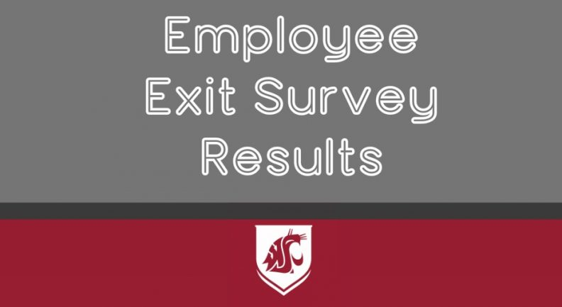 Employee Exit Survey Results text with the WSU logo beneath.