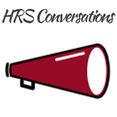 HRS Conversations with a red bullhorn.