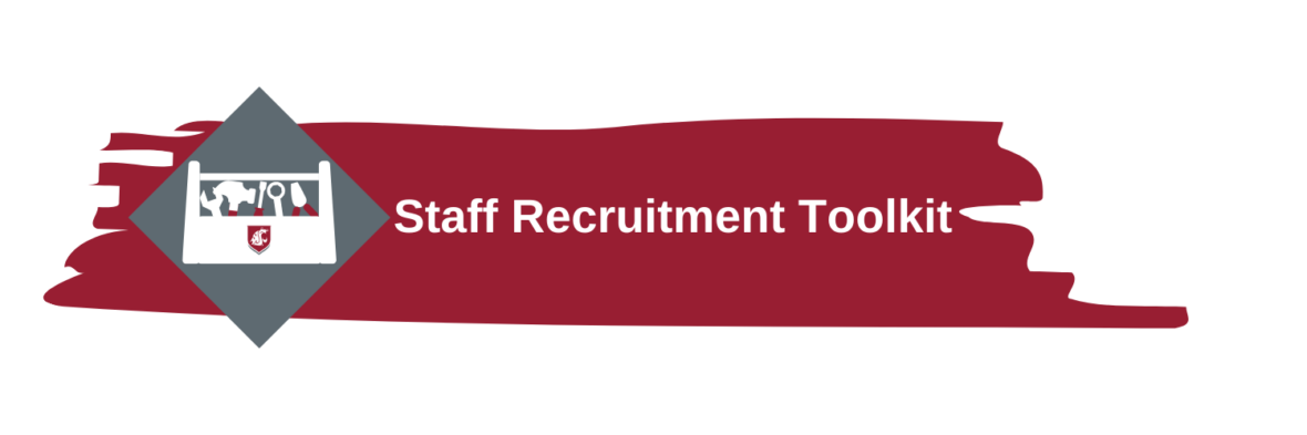 A red stripe with the text: Staff recruitment toolkit.