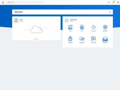 Screenshot of the WSU Workday dashboard.
