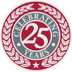 QCC logo with the words: Celebrating 25 years.