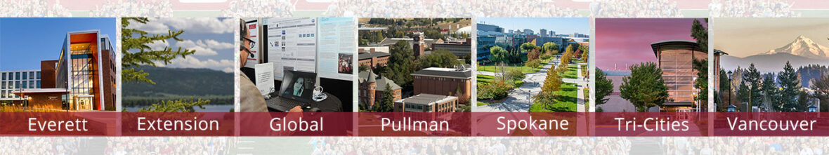 Images from each of the WSU campus locations.