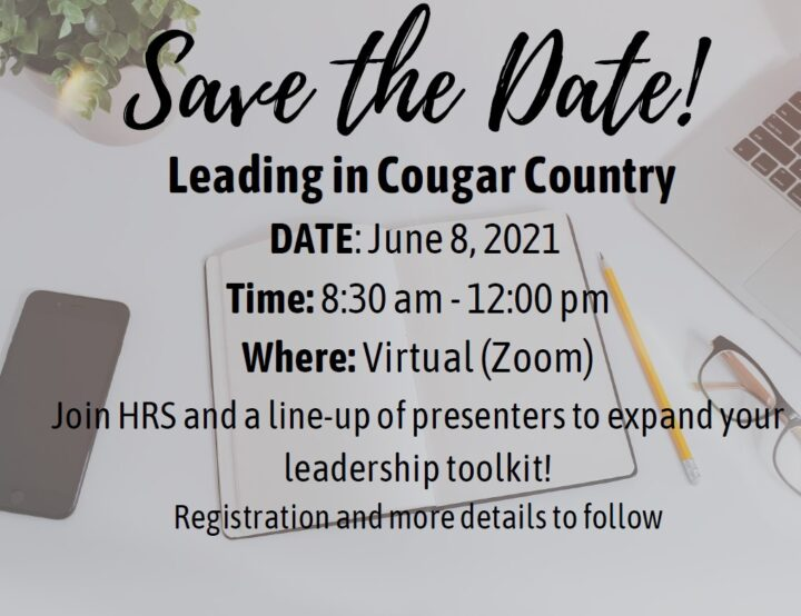 Announcement for Leading in Cougar Country event.